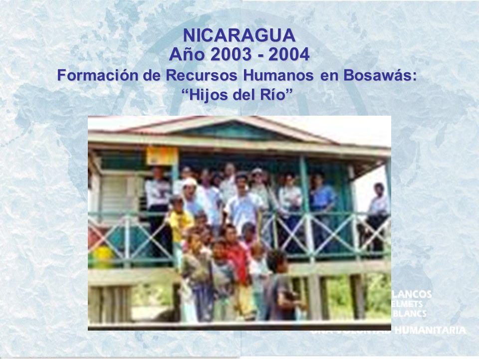 Formación de Recursos Humanos en Bosawás: