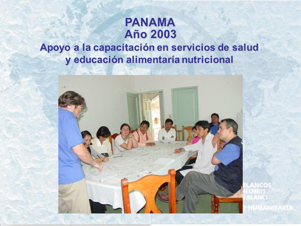 PANAMA Año 2003 Apoyo a la capacitación en servicios de salud