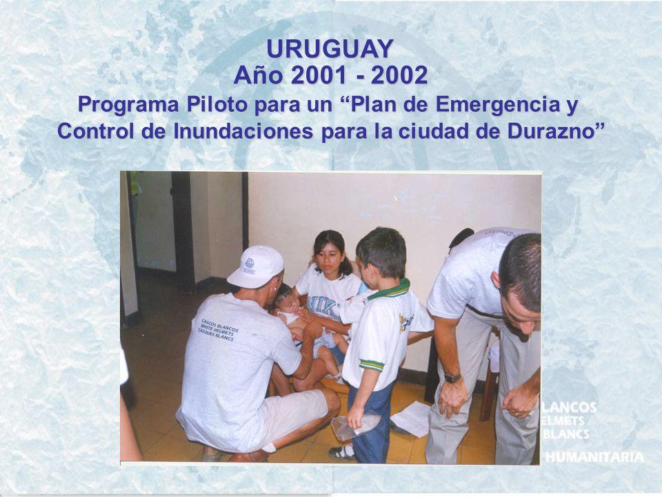 URUGUAY Año 2001 - 2002 Programa Piloto para un Plan de Emergencia y
