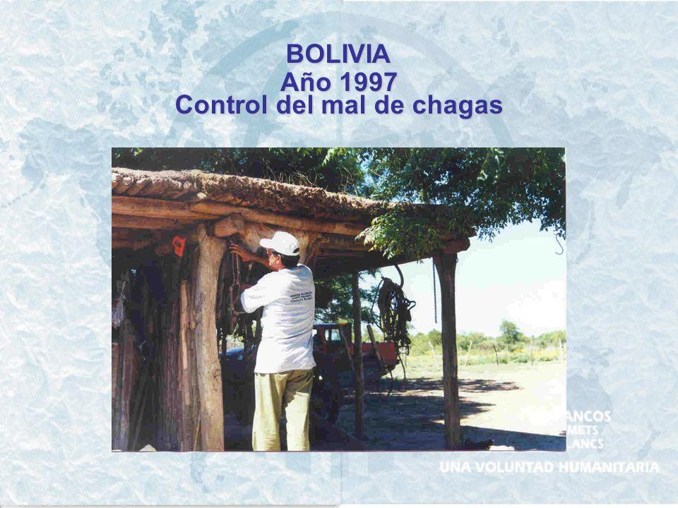 BOLIVIA Año 1997 Control del mal de chagas