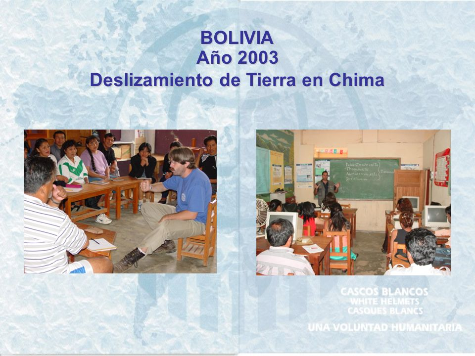 BOLIVIA Año 2003 Deslizamiento de Tierra en Chima
