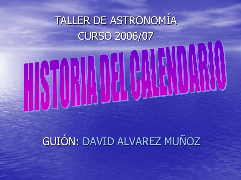 GUIÓN: DAVID ALVAREZ MUÑOZ