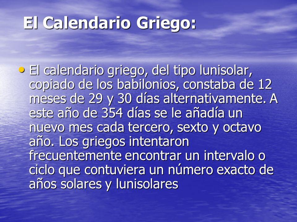 El Calendario Griego: