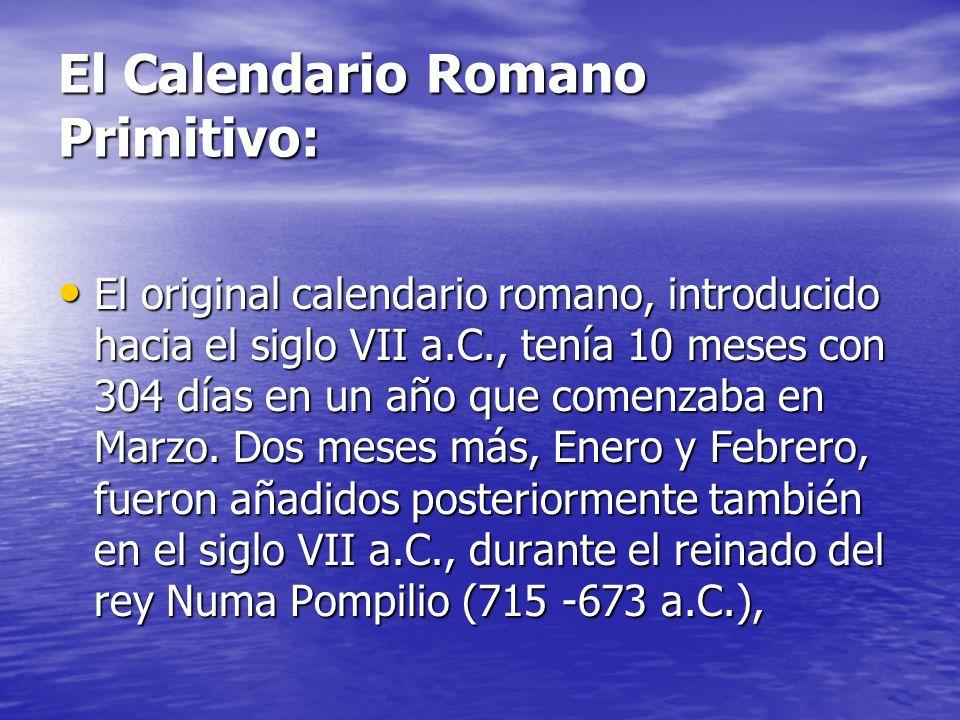 El Calendario Romano Primitivo: