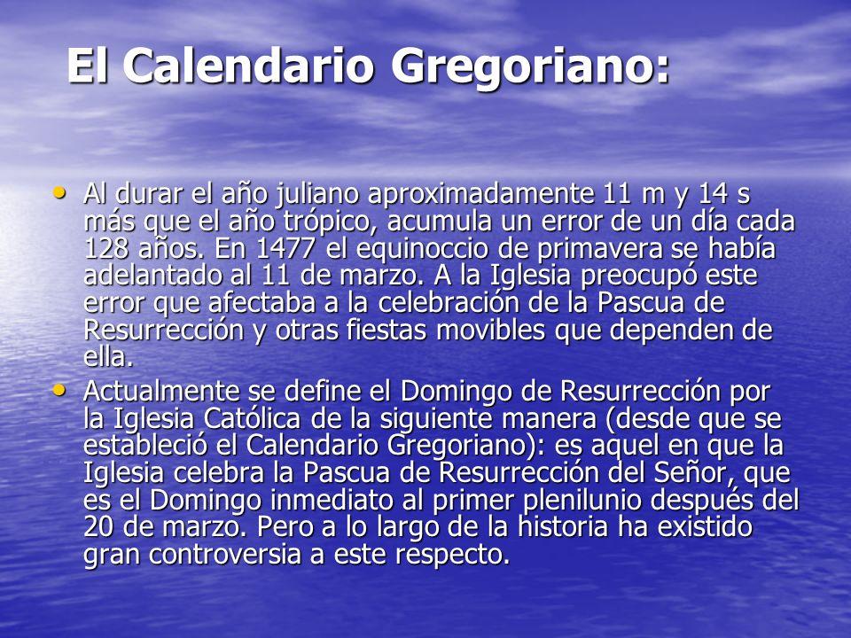 El Calendario Gregoriano:
