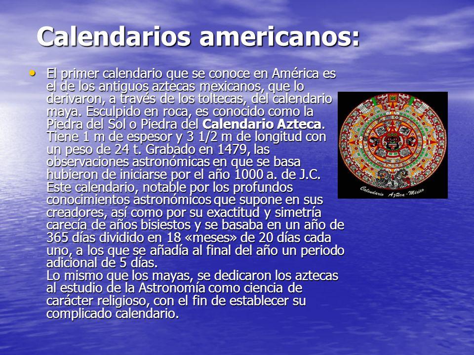Calendarios americanos: