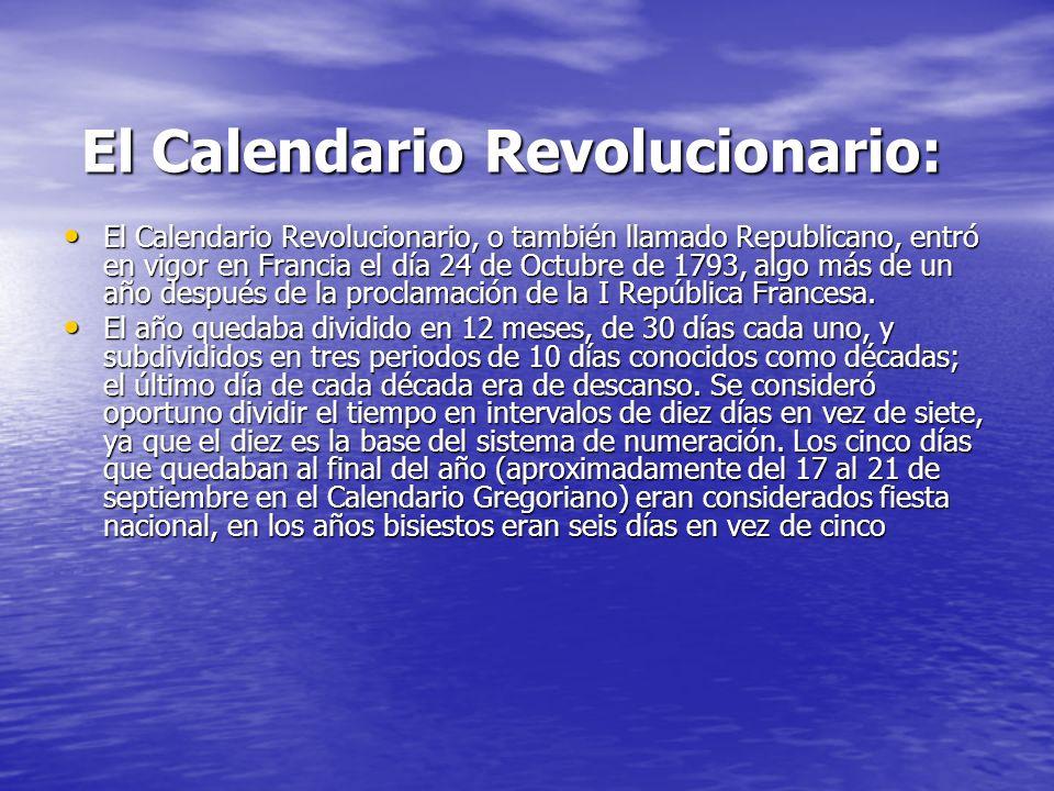El Calendario Revolucionario: