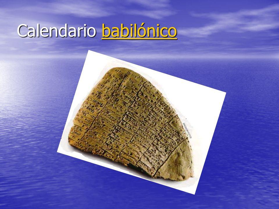 Calendario babilónico