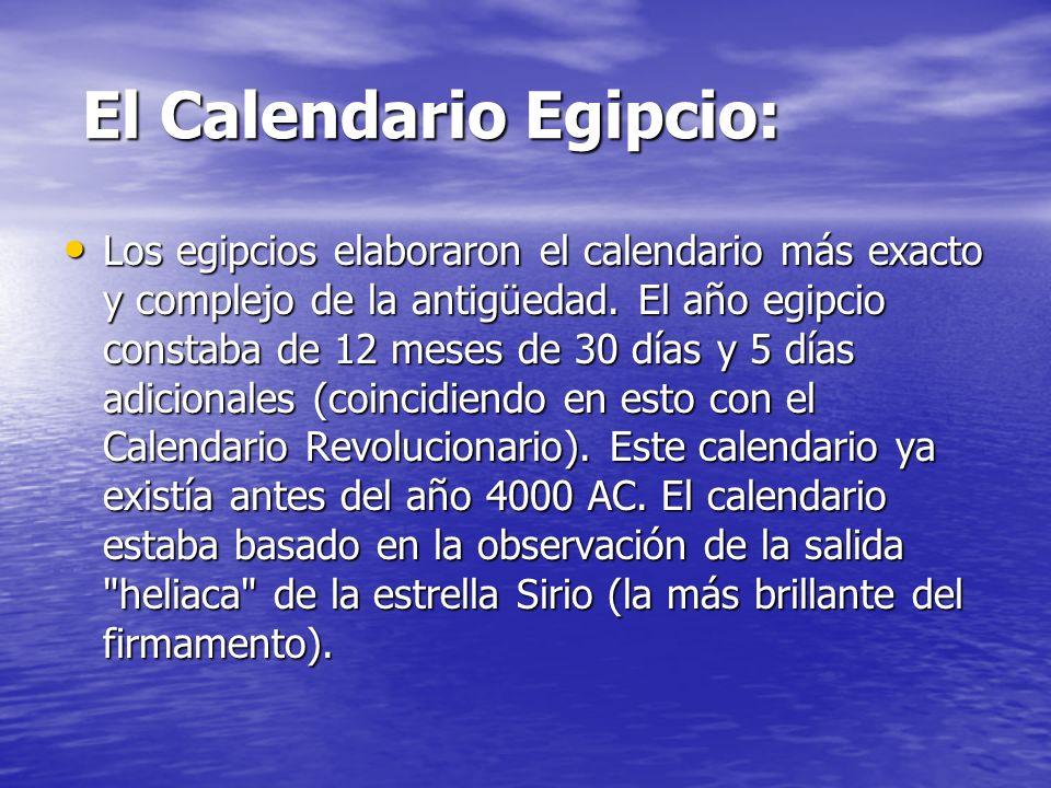 El Calendario Egipcio: