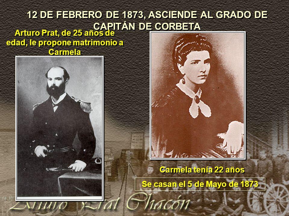 12 DE FEBRERO DE 1873, ASCIENDE AL GRADO DE CAPITÁN DE CORBETA