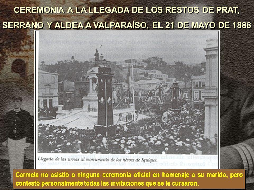 CEREMONIA A LA LLEGADA DE LOS RESTOS DE PRAT,