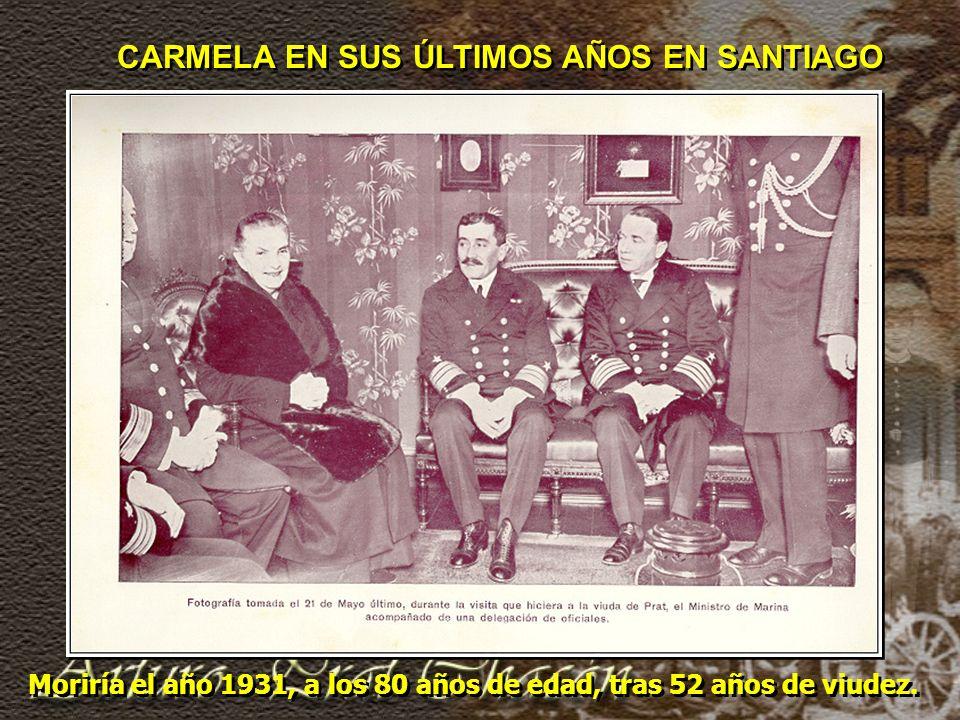 CARMELA EN SUS ÚLTIMOS AÑOS EN SANTIAGO