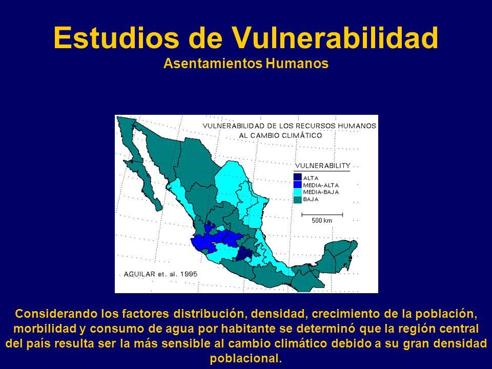 Estudios de Vulnerabilidad Asentamientos Humanos