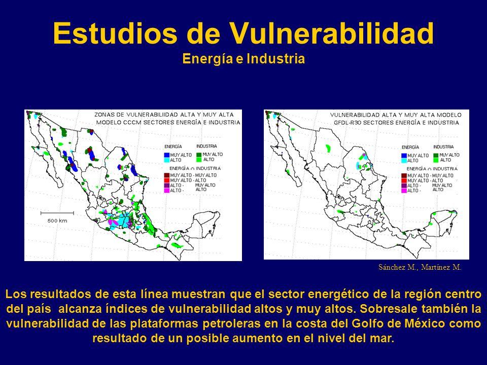 Estudios de Vulnerabilidad Energía e Industria