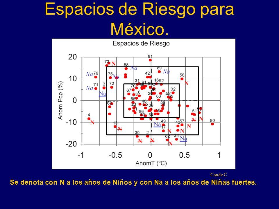 Espacios de Riesgo para México.