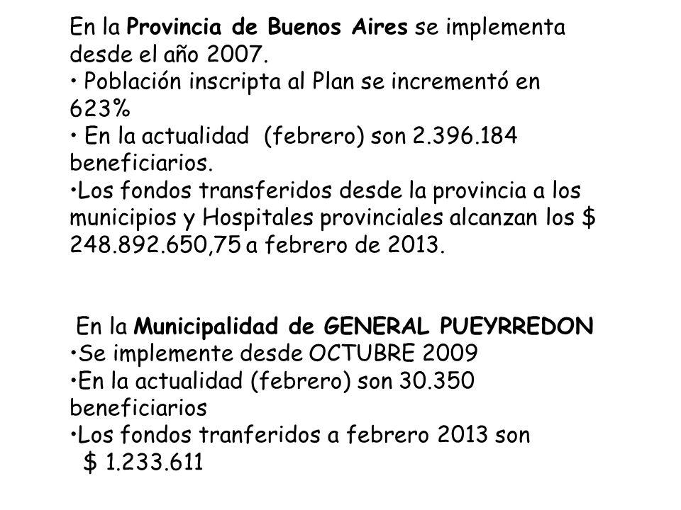En la Provincia de Buenos Aires se implementa desde el año 2007.