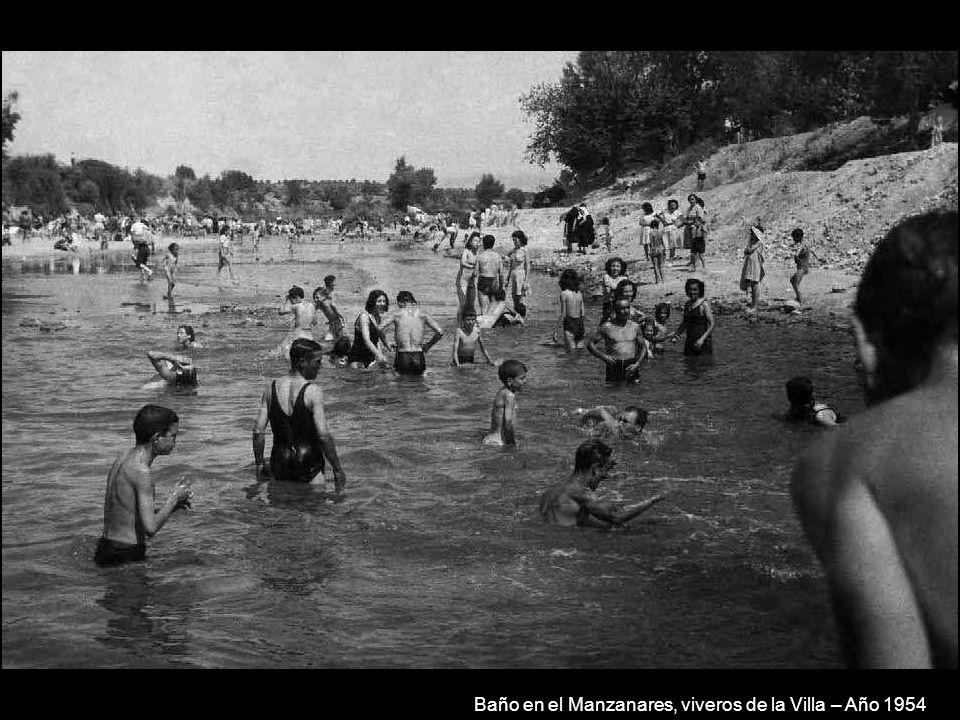 Baño en el Manzanares, viveros de la Villa – Año 1954