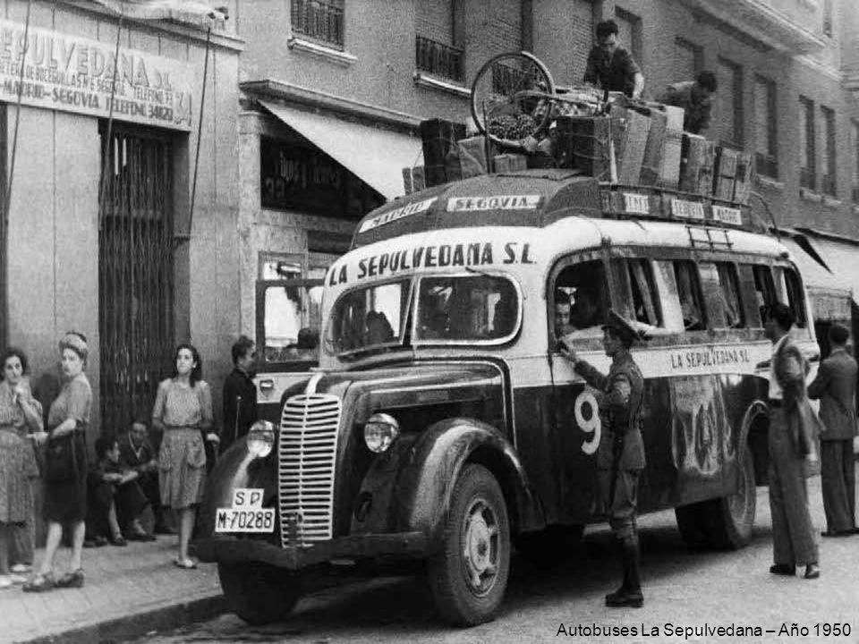 Autobuses La Sepulvedana – Año 1950