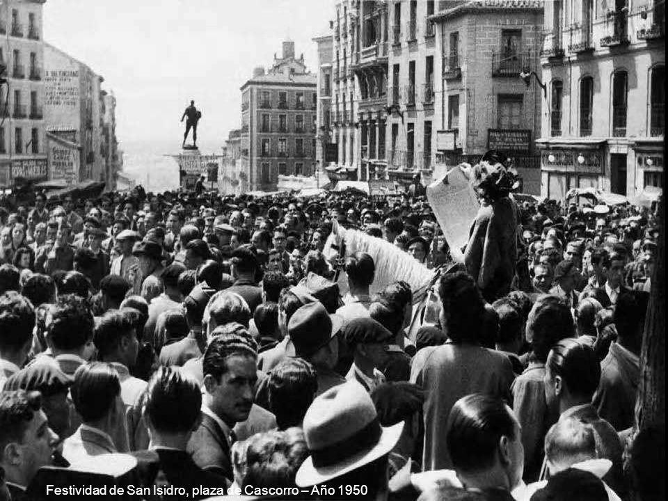 Festividad de San Isidro, plaza de Cascorro – Año 1950