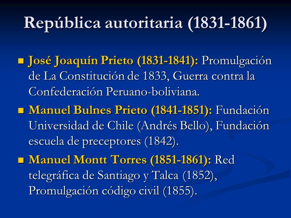 República autoritaria (1831-1861)