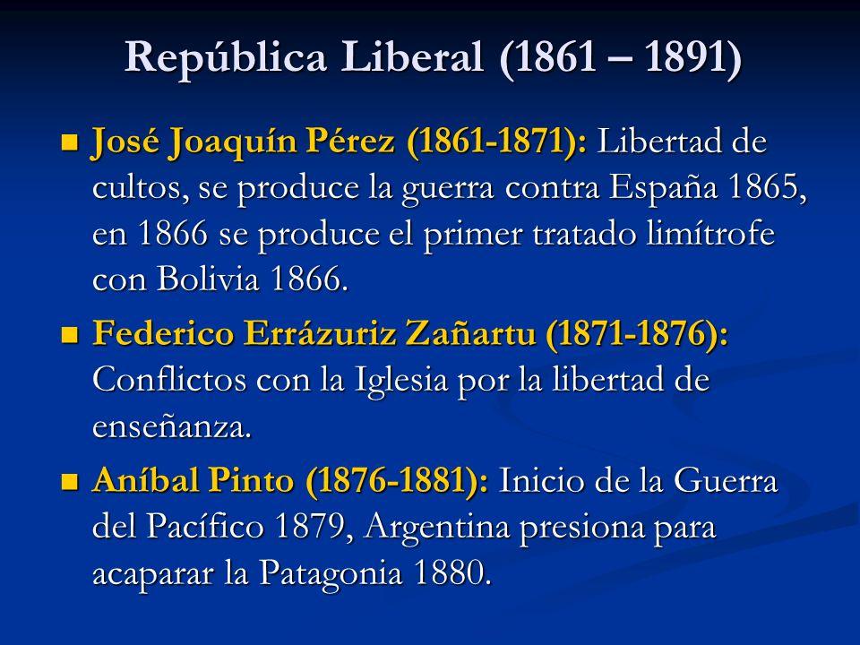 República Liberal (1861 – 1891)