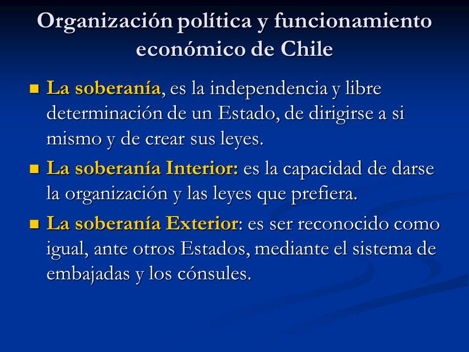 Organización política y funcionamiento económico de Chile