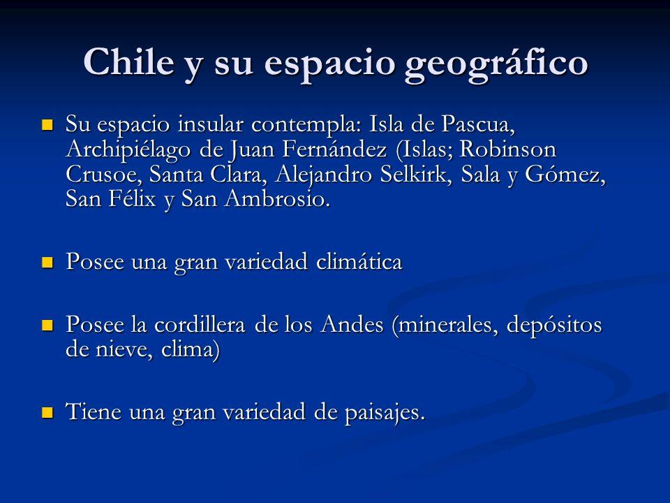 Chile y su espacio geográfico