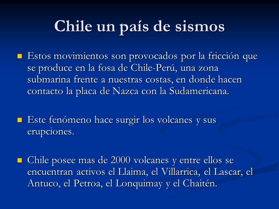 Chile un país de sismos