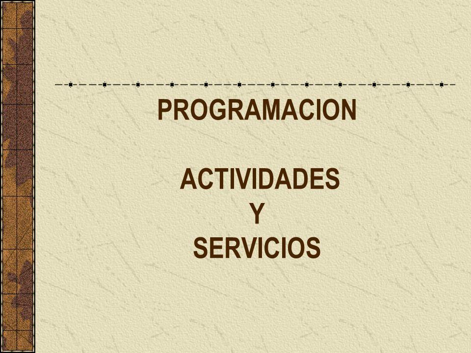 PROGRAMACION ACTIVIDADES Y SERVICIOS