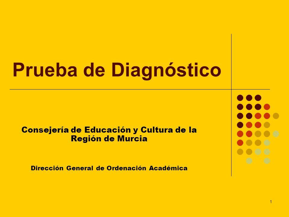Prueba de DiagnósticoConsejería de Educación y Cultura de la Región de Murcia.