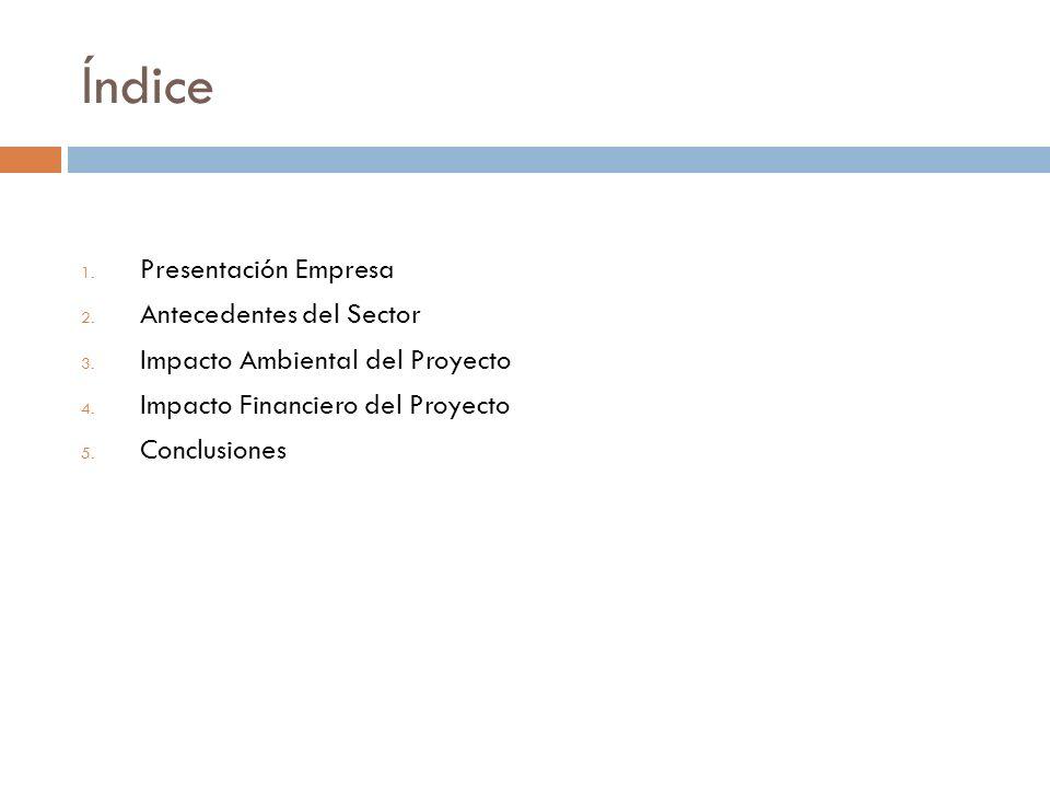 Índice Presentación Empresa Antecedentes del Sector