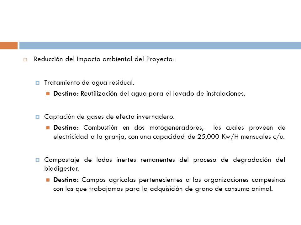 Reducción del Impacto ambiental del Proyecto:
