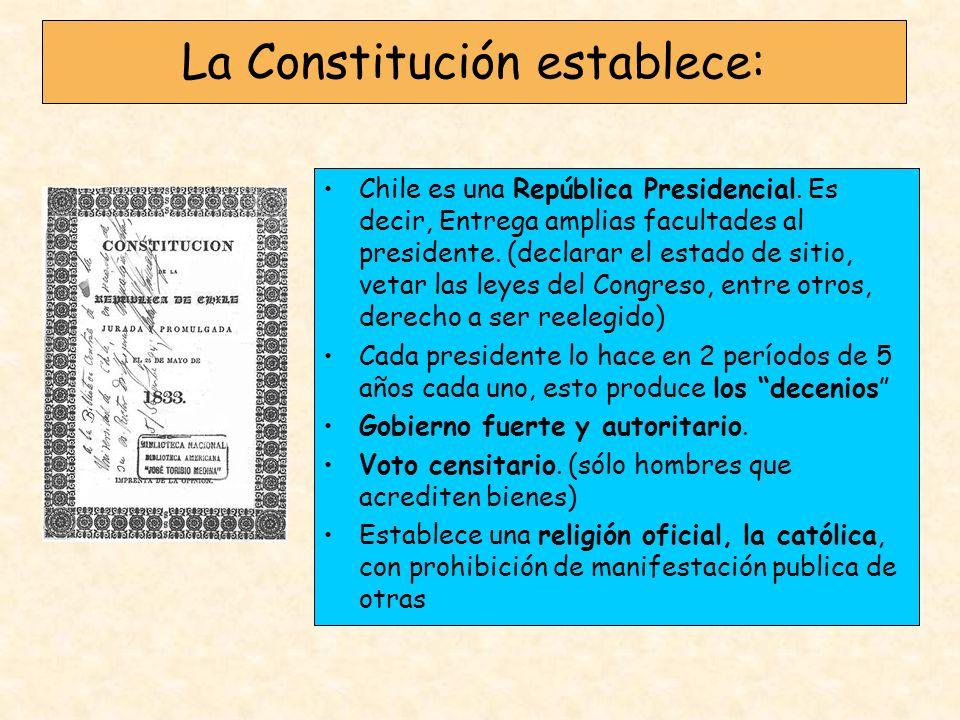 La Constitución establece: