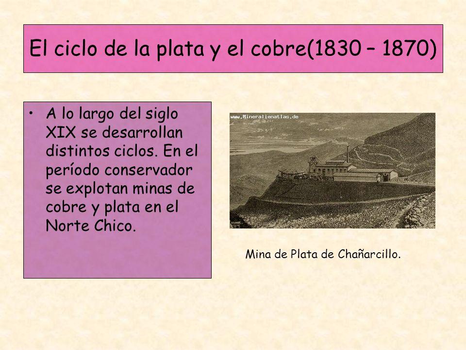 El ciclo de la plata y el cobre(1830 – 1870)