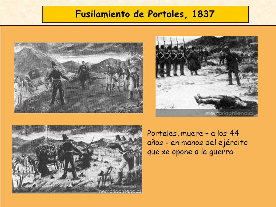 Fusilamiento de Portales, 1837