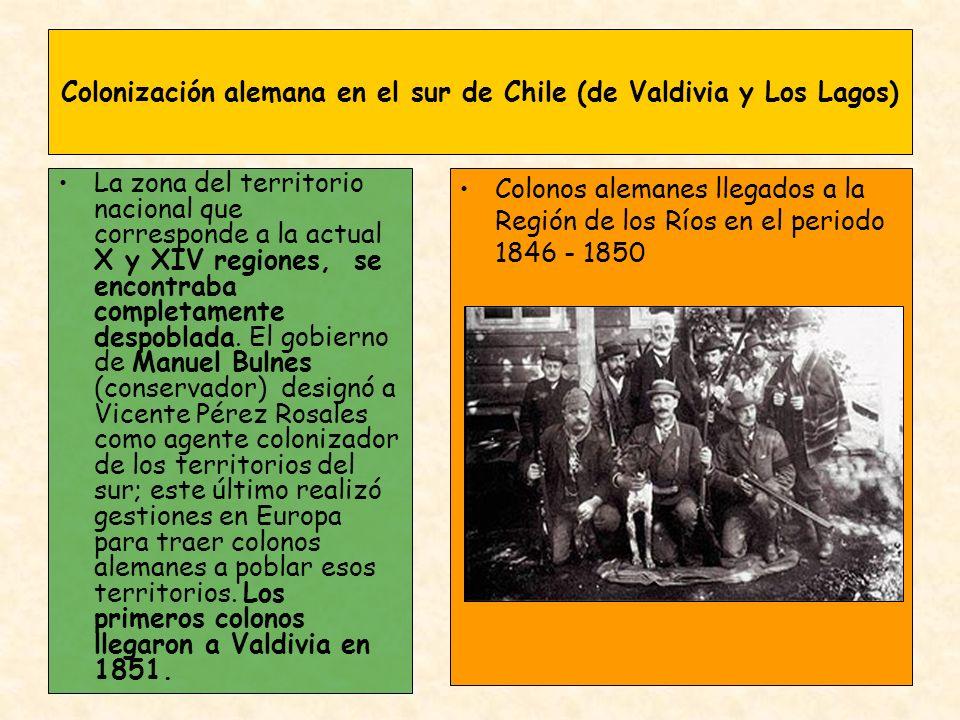 Colonización alemana en el sur de Chile (de Valdivia y Los Lagos)