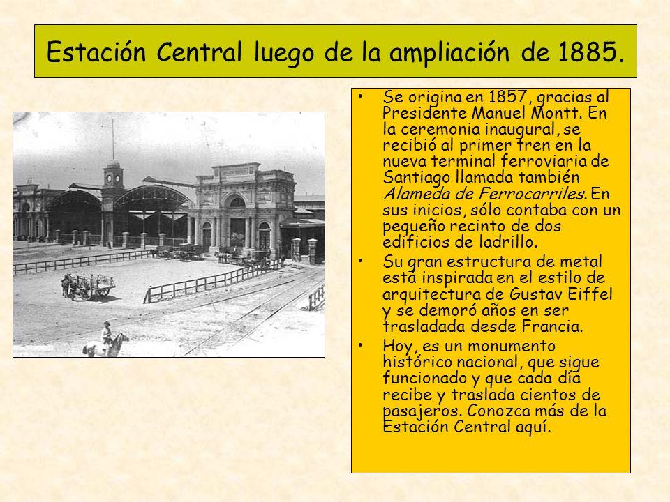 Estación Central luego de la ampliación de 1885.