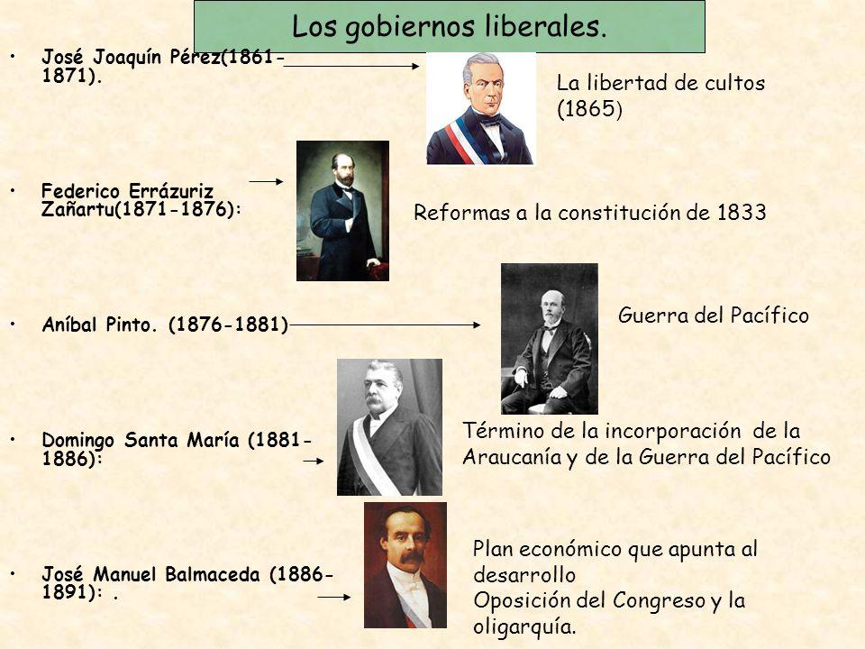 Los gobiernos liberales.