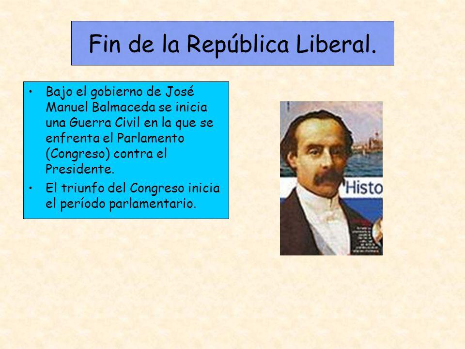 Fin de la República Liberal.