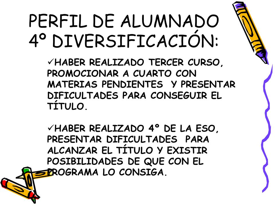 PERFIL DE ALUMNADO 4º DIVERSIFICACIÓN:
