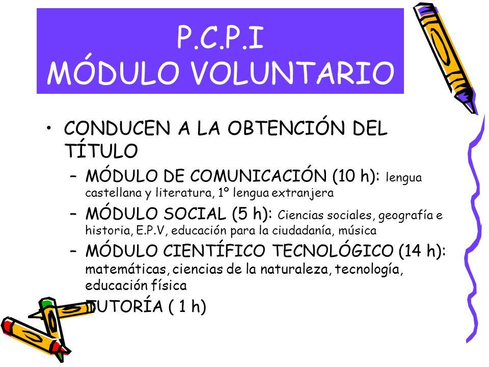 P.C.P.I MÓDULO VOLUNTARIO