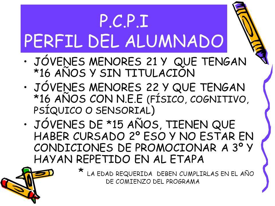 P.C.P.I PERFIL DEL ALUMNADO