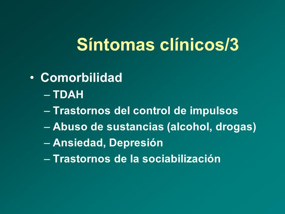 Síntomas clínicos/3 Comorbilidad TDAH