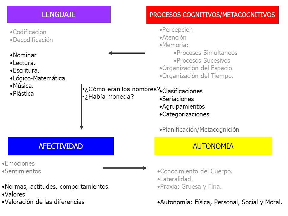 PROCESOS COGNITIVOS/METACOGNITIVOS