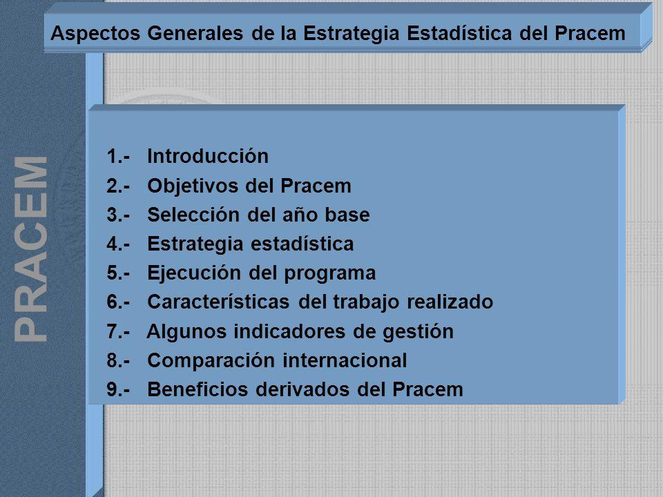 Aspectos Generales de la Estrategia Estadística del Pracem