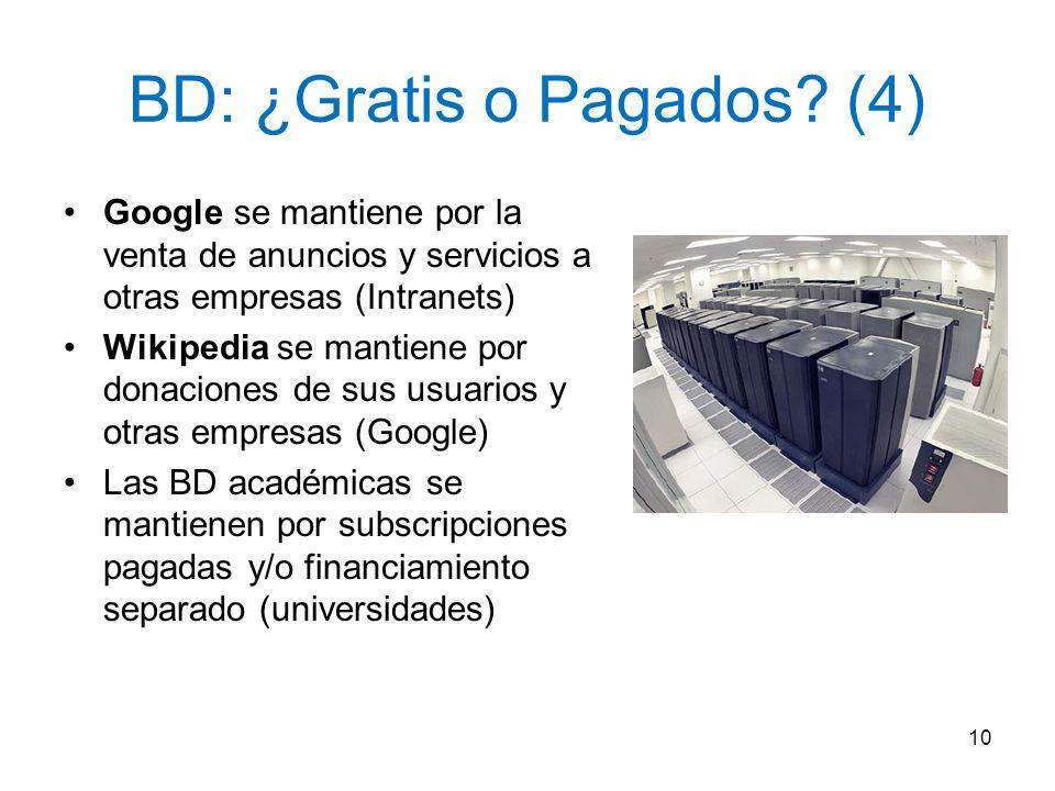 BD: ¿Gratis o Pagados (4)