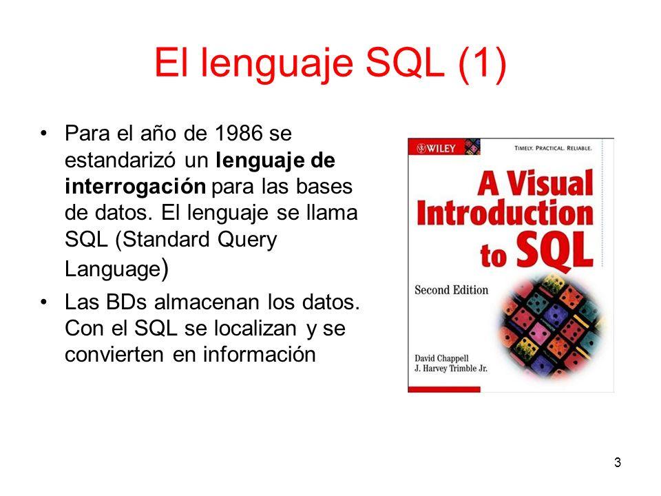 El lenguaje SQL (1)