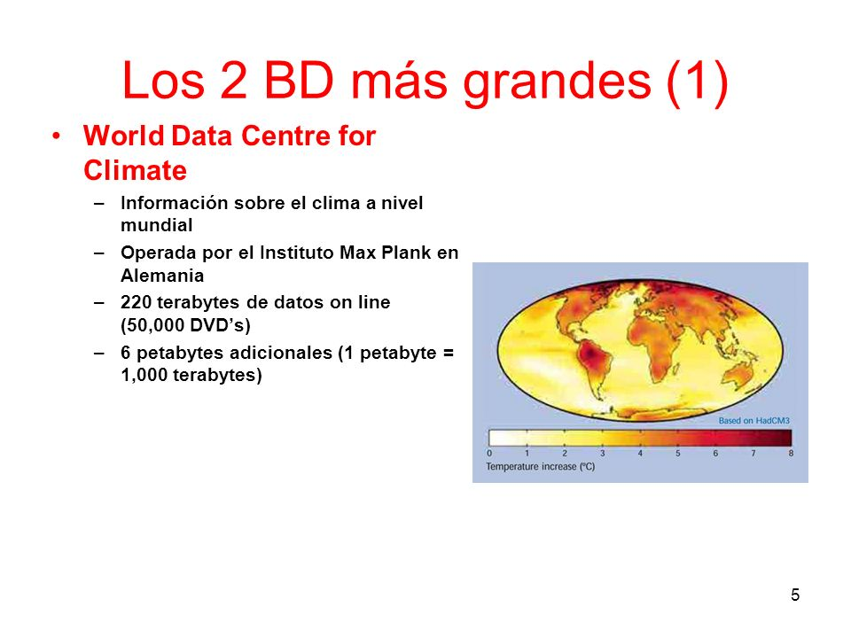 Los 2 BD más grandes (1) World Data Centre for Climate