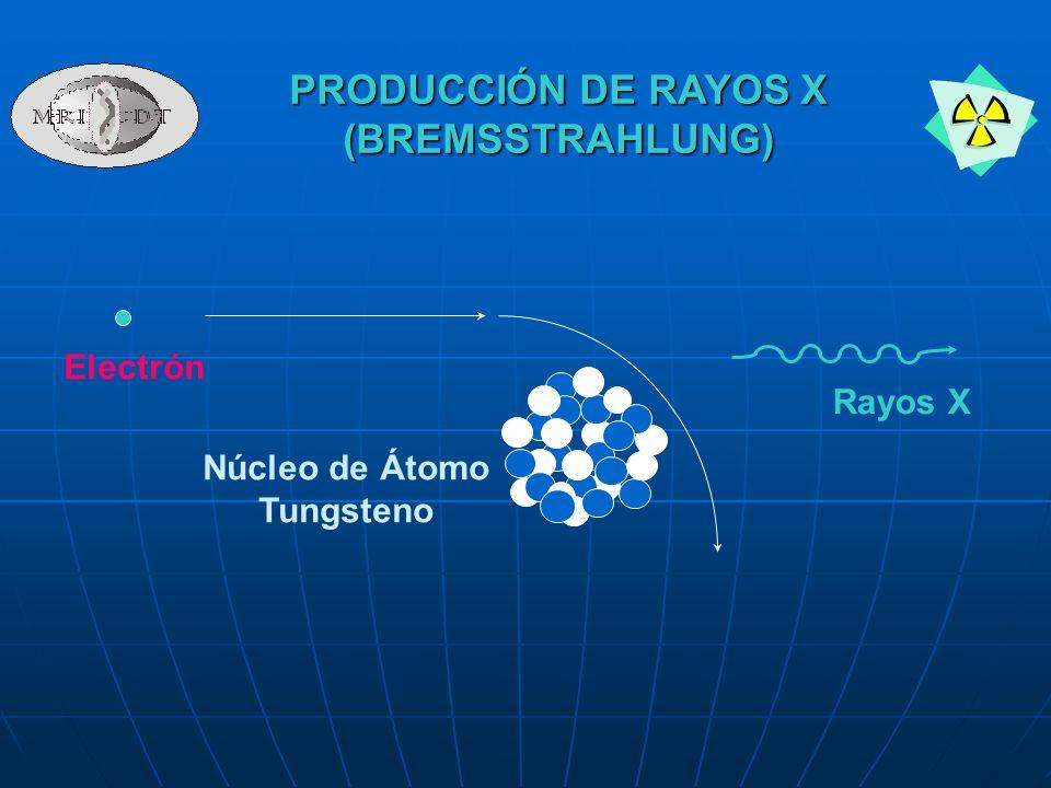 PRODUCCIÓN DE RAYOS X (BREMSSTRAHLUNG)