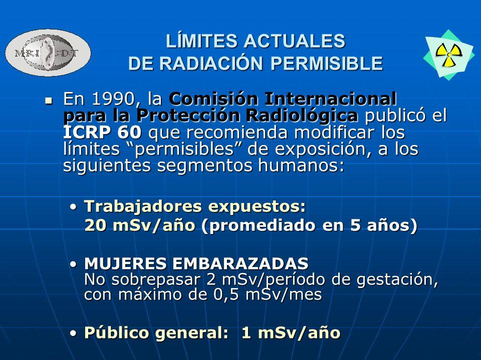 DE RADIACIÓN PERMISIBLE